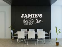 PERSONALISED Bar wall art sticker, quote, vinyl transfer, decoration, decal